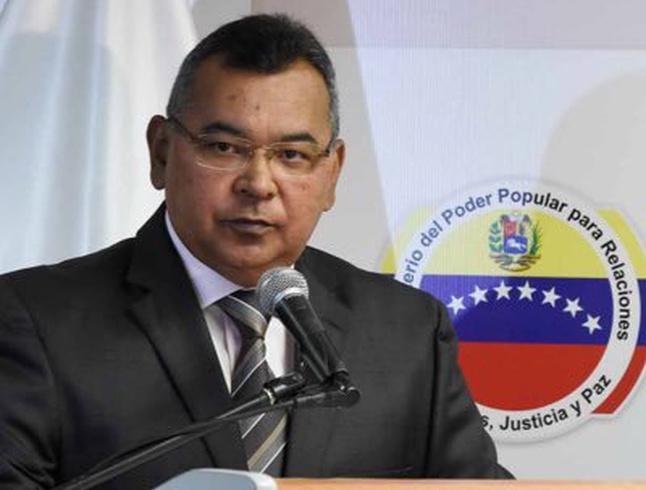 Глава МВД Венесуэлы Нестор Ривероль