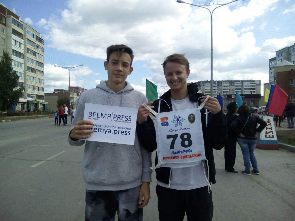 Сотрудники Время Пресс - Кирилл Хромов и Егор Рогачевских
