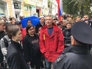 Евгений Ройзман на митинге