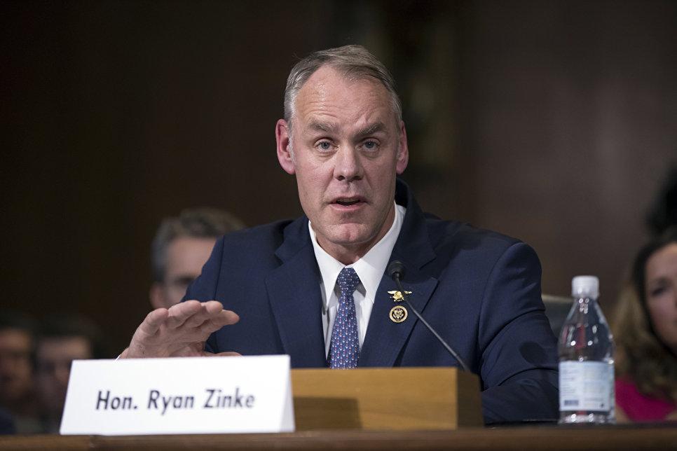 Министр внутренних дел США Райан Зинке
