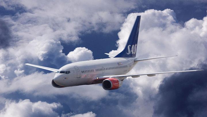 Самолет шведской авиакомпании