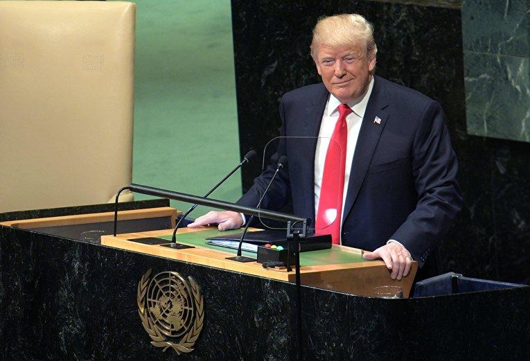 Трамп на заседании Генеральной ассамблеи ООН