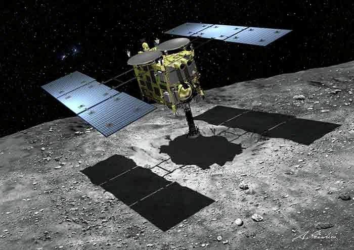 Хаябуса-2 успешно десантировал первых роботов на астероид Рюгу