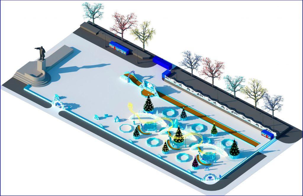 Эскиз ледового городка в Екатеринбурге