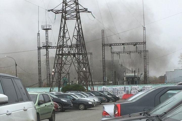 Пожар на подстанции в Екатеринбурге