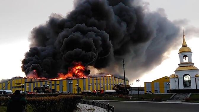 Пожар в поселке Саган-Нур
