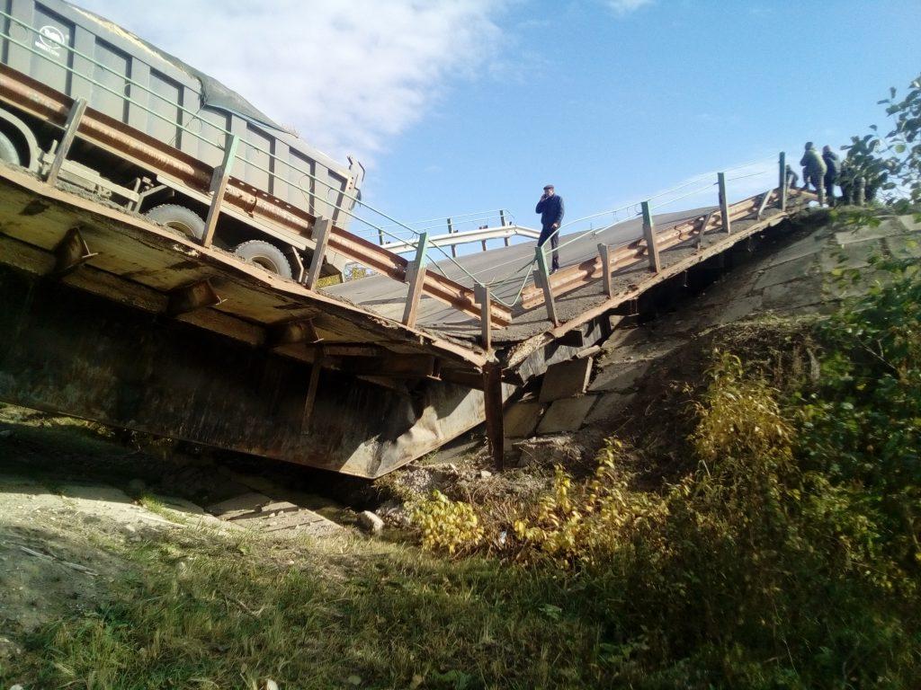Рухнувший мост в Мордовии
