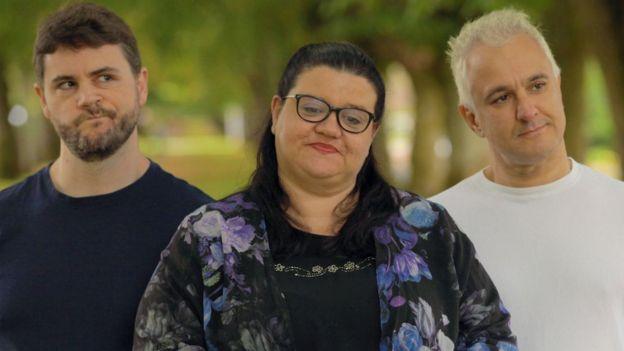 Ученые-диссиденты. Слева направо - Джеймс Линдси, Хелен Плакроуз и Питер Богоссян