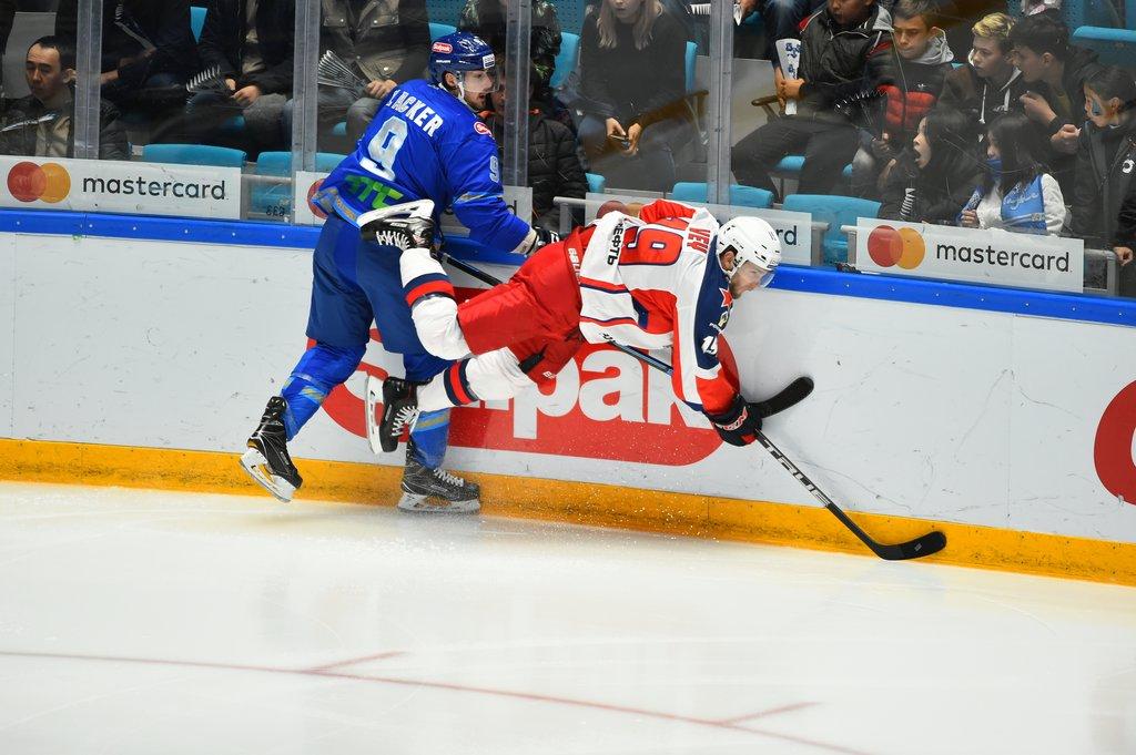 Барыс - ЦСКА: что не так с казахстанскими барсами? Фото ХК Барыс.