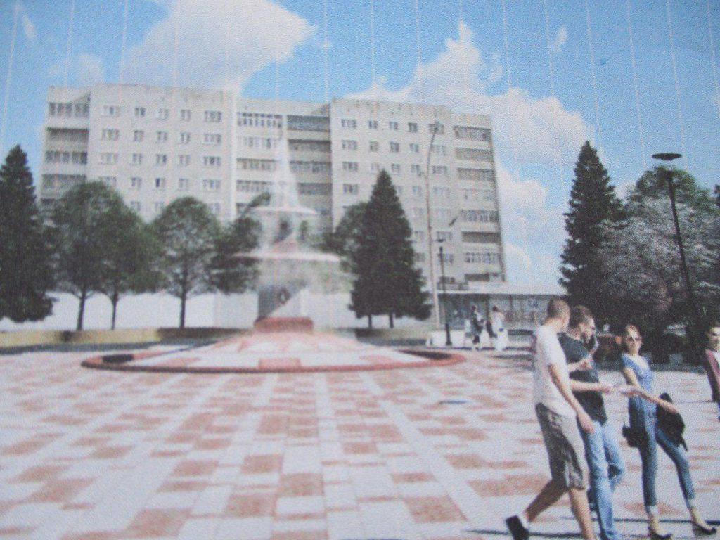 Проект фонтана на площади Горького