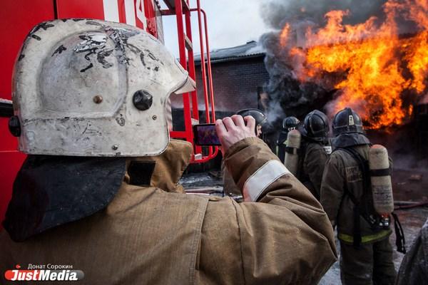 Крупный пожар под Первоуральском