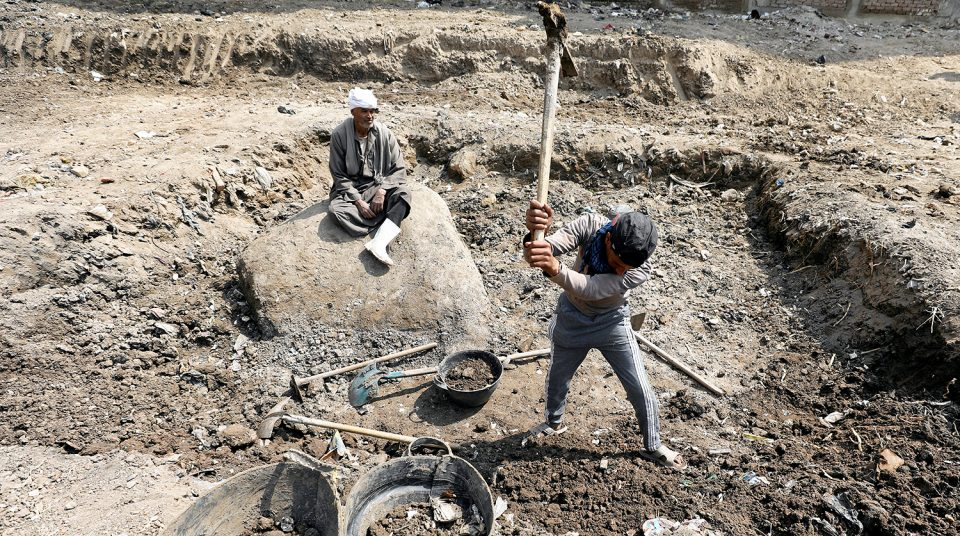 Раскопки в Каире
