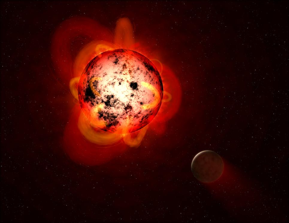 Астрономы зафиксировали супервспышку на соседней звезде J02365