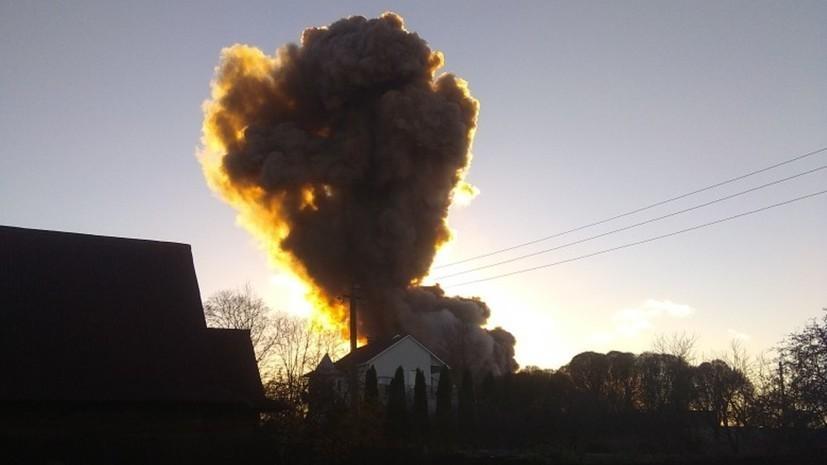 Подробности взрыва на заводе пиротехники в Ленинградской области
