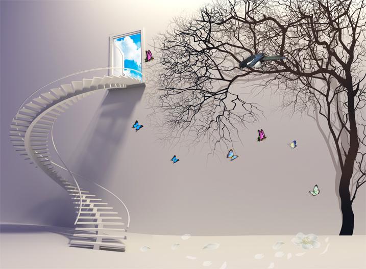 Одна из идей арт-объектов: Лестница в Прекрасное далеко