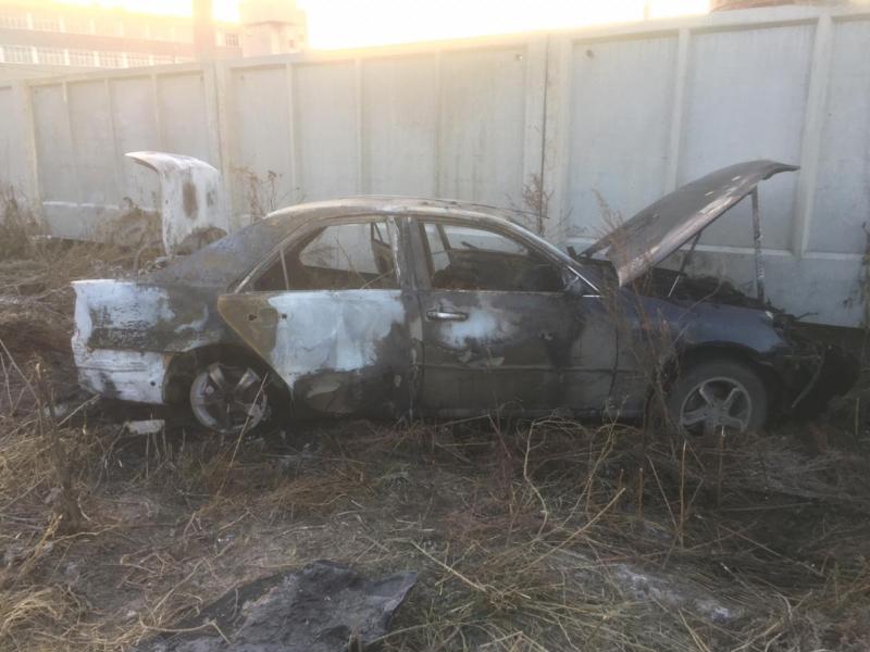 Мужчина сгорел заживо в автомобиле