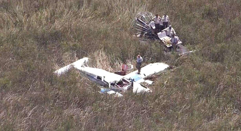 Самолет упал. Фото из сети