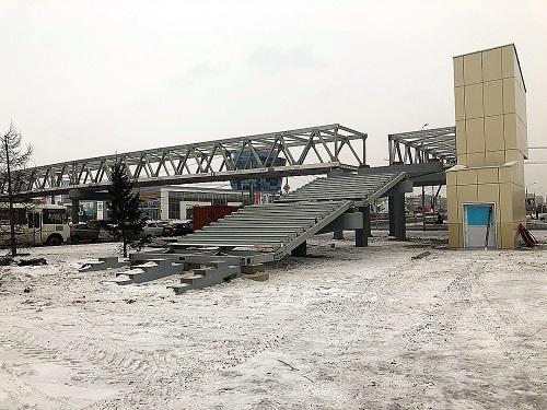 Строительство моста из алюминиевых конструкций в Красноярске