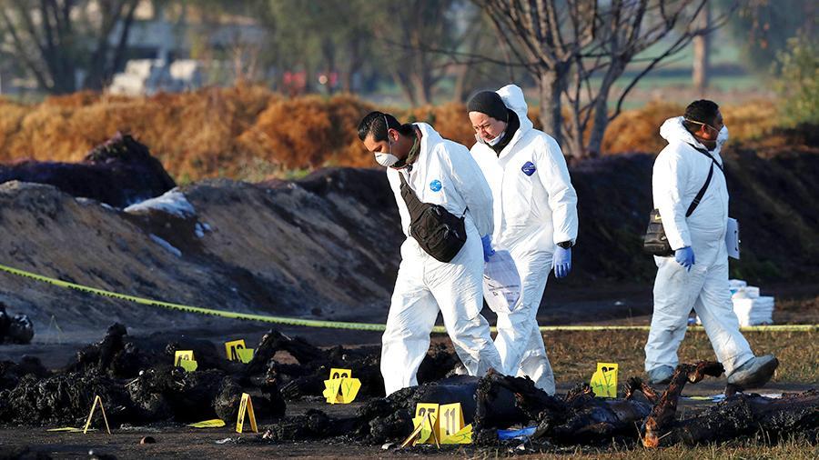 На трубопроводе в Мексике произошёл новый взрыв