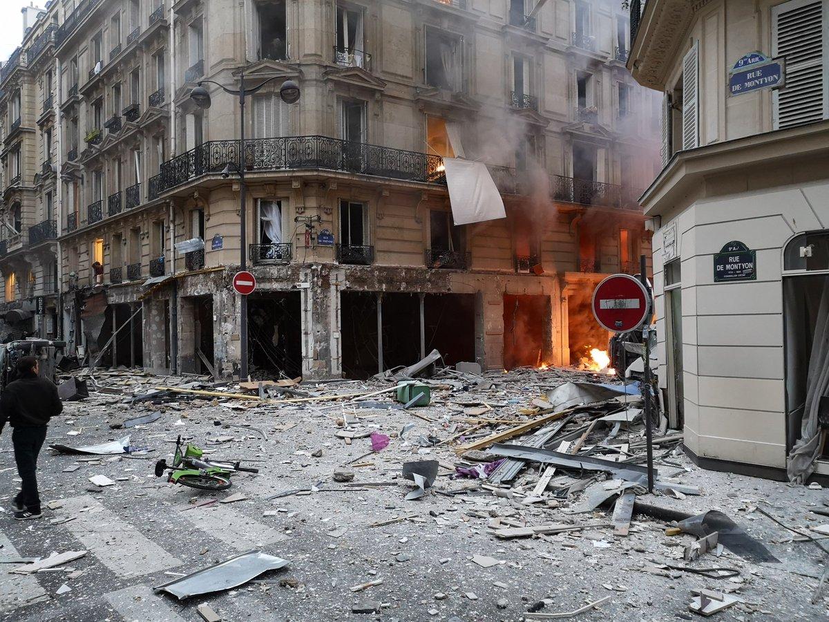 взрыв, Париж