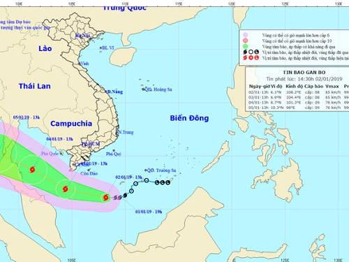 Тайфун Пабук: уточнённый прогноз