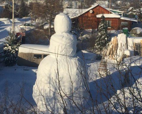 Самый высокий снеговик