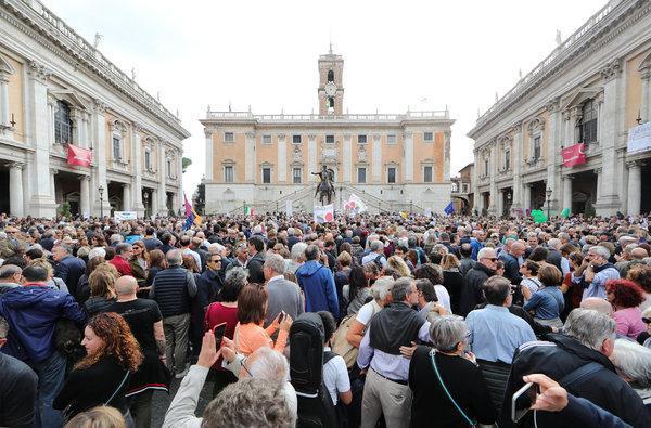 Массовая манифестация в Риме