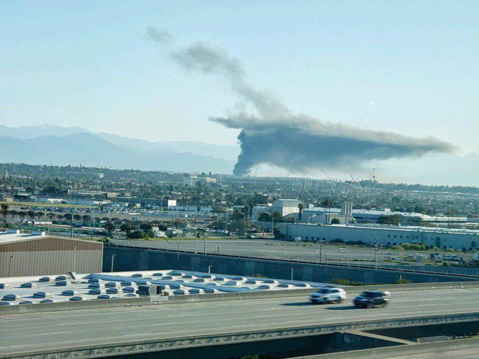 взрыв в центре Лос-Анджелеса