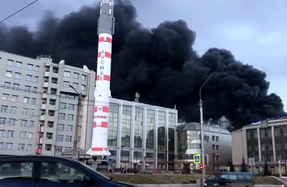 горит оборонный завод Красмаш