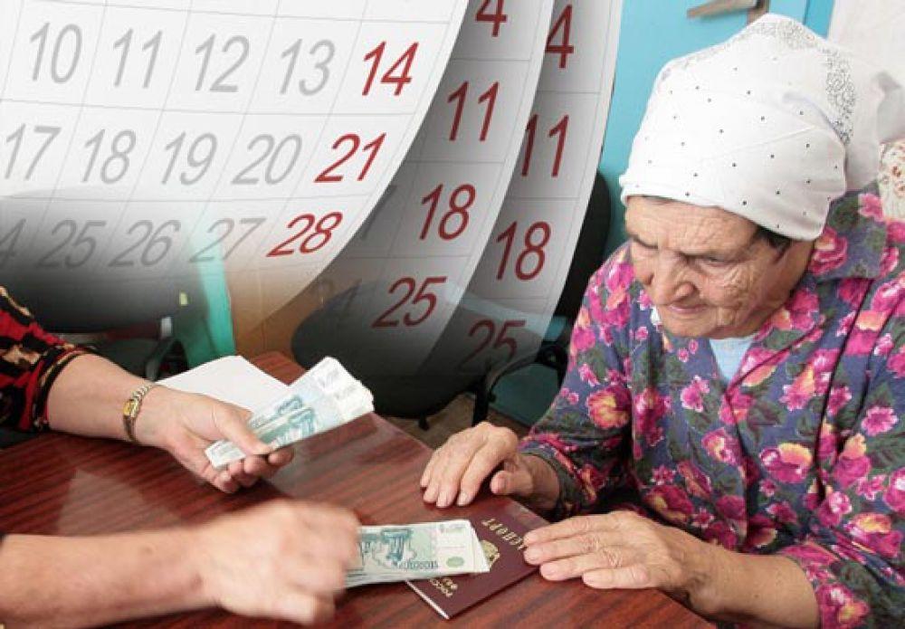 Расписание доставки пенсий