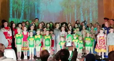 Отчетный концерт в селе Позариха