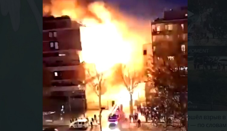 В Париже взорвалась многоэтажка