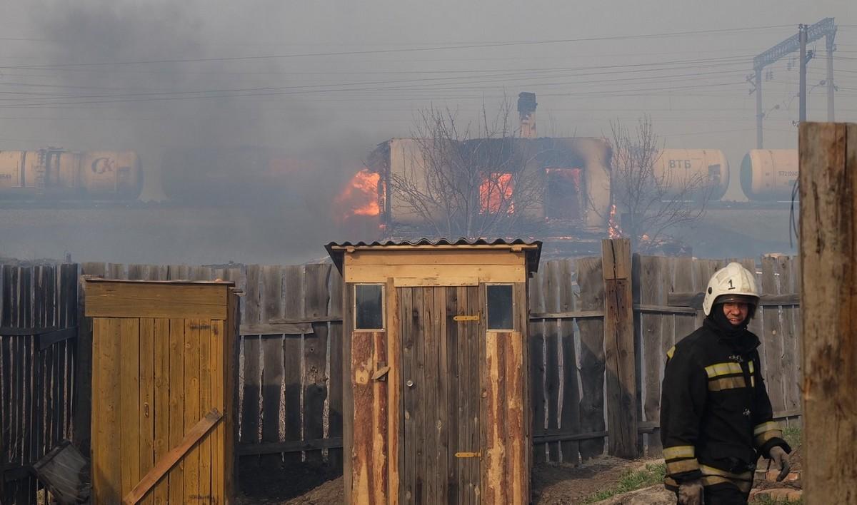 Горит Курганская область