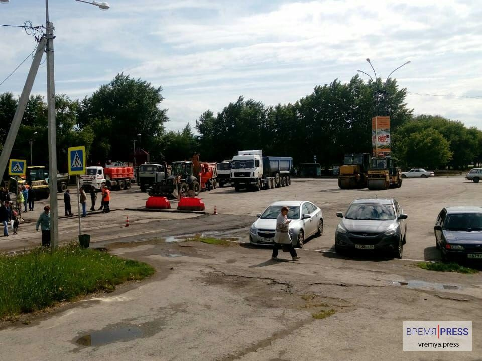 Ремонт дороги на улице Беляева