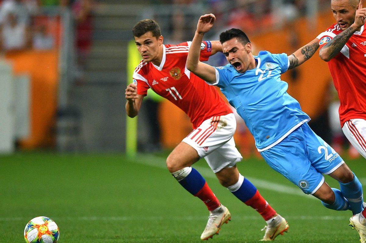 Видеообзор уникального футбольного матча «Россия-Сан-Марино»