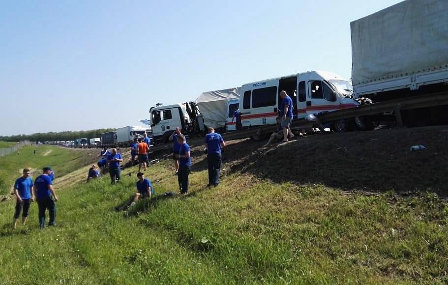 Колонна МЧС попала в ДТП под Тулой, есть пострадавшие