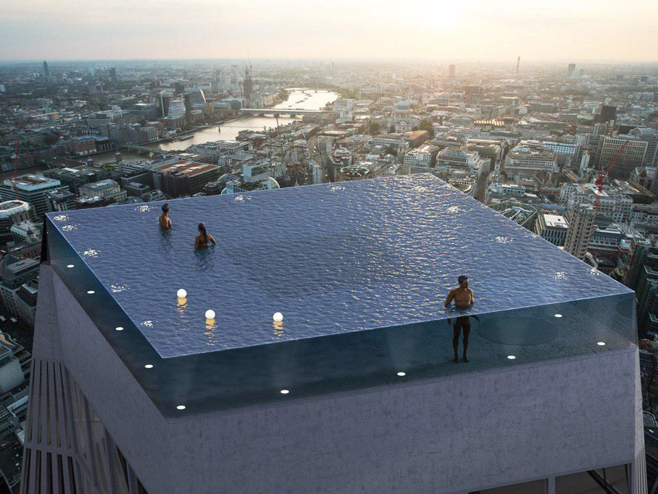 Бассейн на крыше небоскреба появится в Лондоне