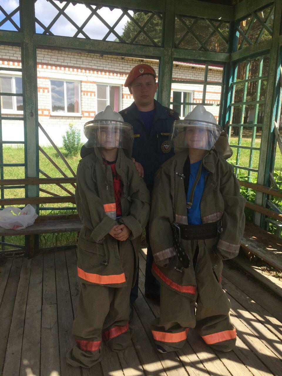 Спасатели посетили лагерь Колосок
