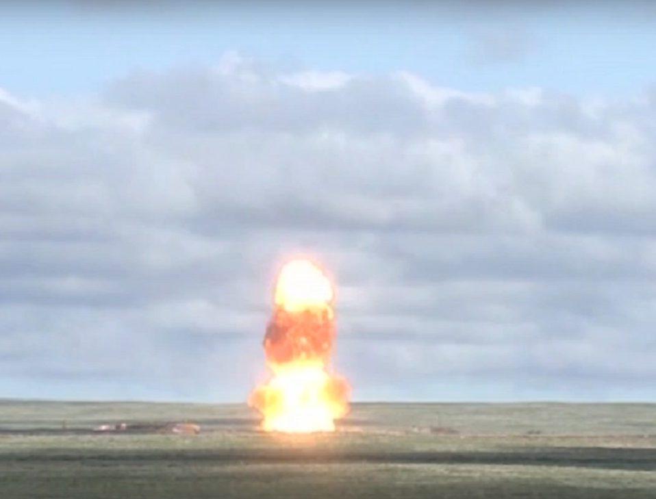 Запуск новой противоракеты ВКС РФ (видео)