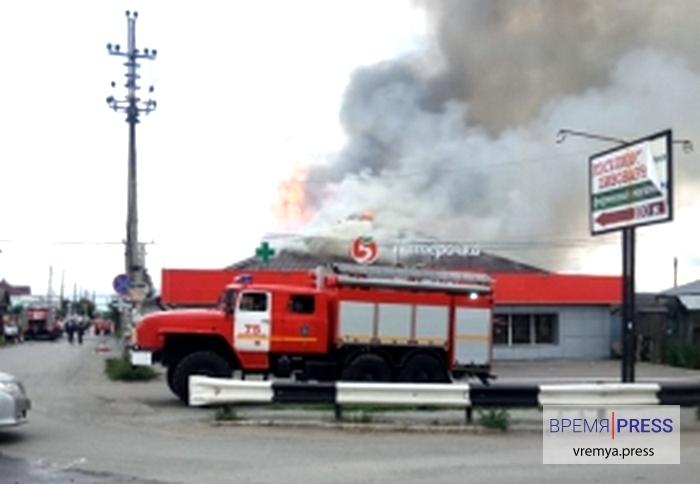 В Косулино сгорел магазин Пятёрочка