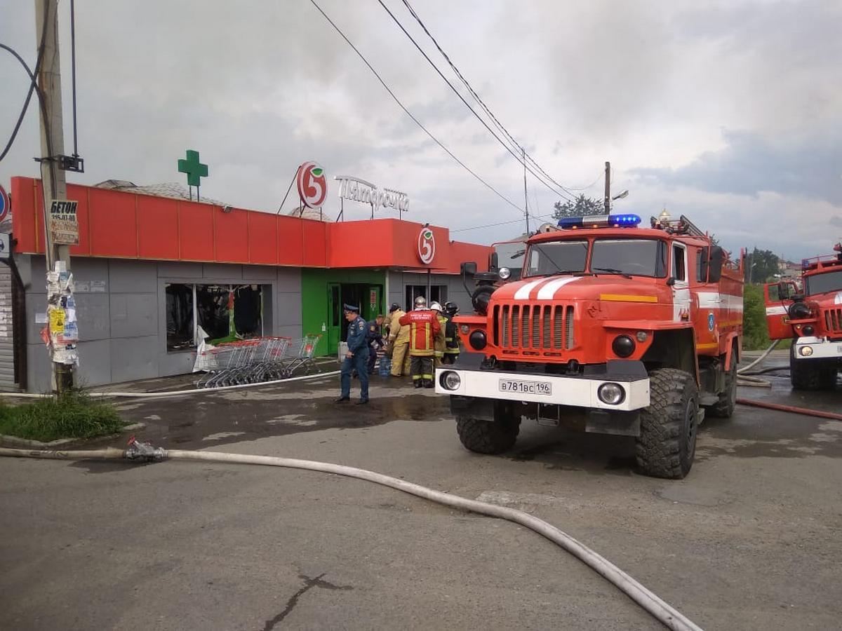 Новые подробности пожара в Косулино: сгорел магазин Пятёрочка (фото)
