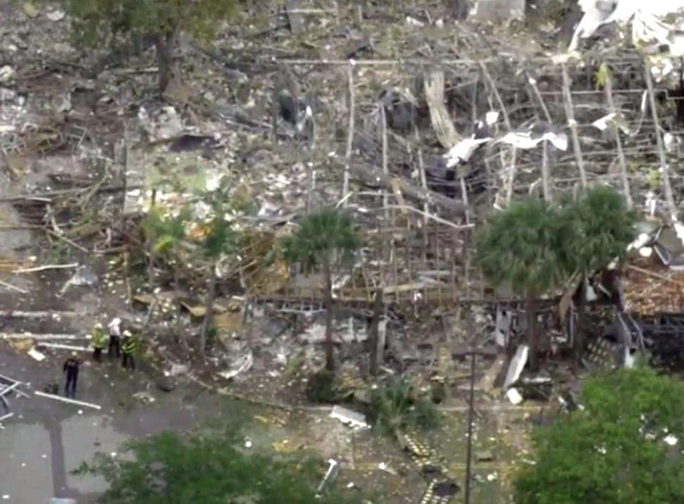 Мощный взрыв газа произошёл в торговом центре во Флориде