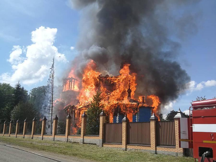 Мужской монастырь сгорел в Курганской области