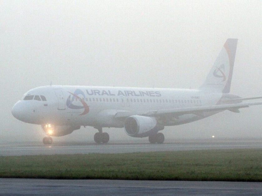 Кольцово не принимал авиарейсы из-за тумана