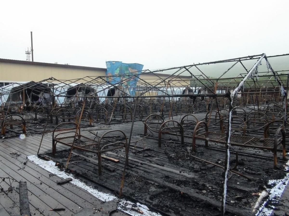 Власти Хабаровского края подтвердили гибель трёх детей при пожаре в лагере