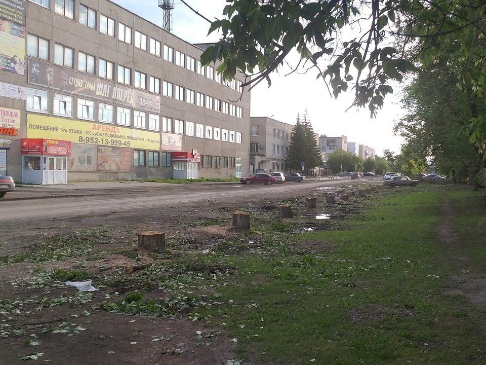 На Мичурина, 34, появится парковка вместо спиленных деревьев