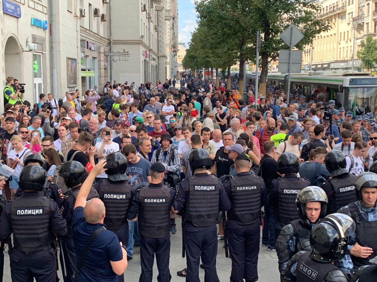 Итоги несогласованного митинга в Москве 27 июля