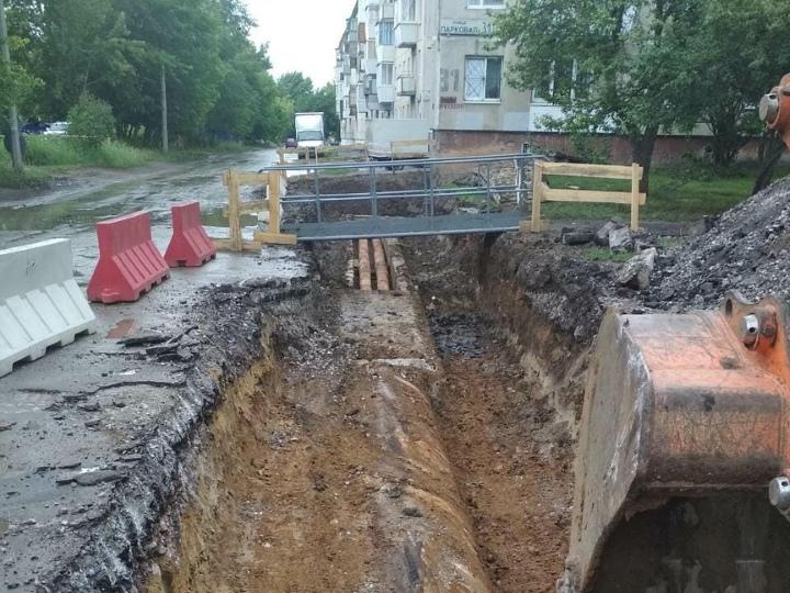 Модернизация участка тепловой сети идёт по улице Парковой