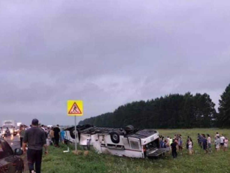 В Башкирии перевернулся автобус с детьми, есть погибшие