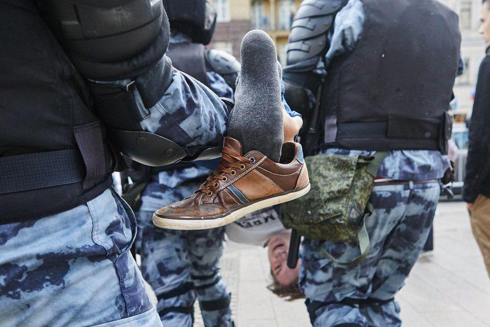 Несогласованная акция в Москве провалилась